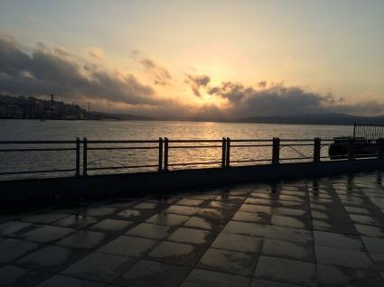 The sunrise hits Europe