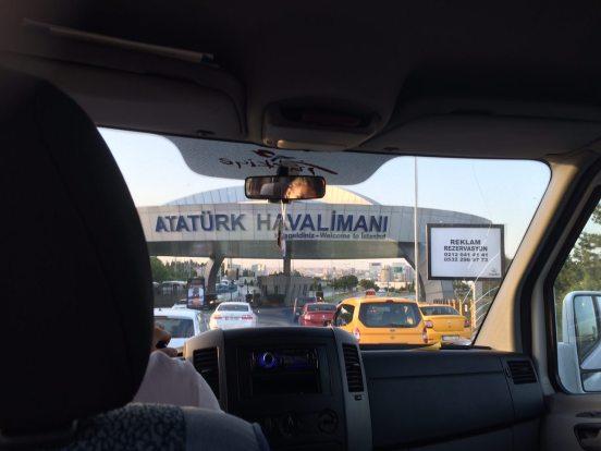 La entrada al aeropuerto Ataturk tres días antes del ataque